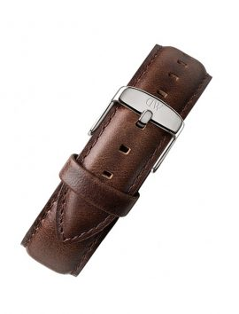 DANIEL WELLINGTON 18-20mm Brown Leather_Strap